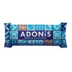 Ketogene reep | Adonis | Low Sugar Nut Bar | Coconut Vanilla & Acai Berry | Dieetwebshop.nl