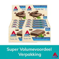 Atkins | Chocolate Mint Bar | Voordeeldoos  | Eiwitrijk | Dieetwebshop.nl