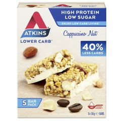 Atkins | Cappuccino Nut Bar | Low Carb | Dieetwebshop.nl