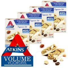 Atkins | Cappuccino Nut Bar | Voordeeldoos  | Caloriearme reep | Ketogeen | Dieetwebshop.nl