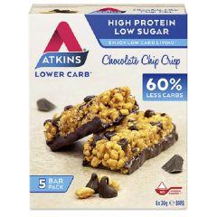 Atkins | Chocolate Chip Crisp Bar | Doos | Eiwitrijke Keto Reep | Dieetwebshop.nl