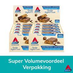 Atkins | Chocolate Hazelnut Crunch | Voordeeldoos | Keto Reep | Dieetwebshop.nl