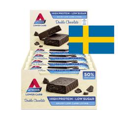 Atkins | Double Chocolate | Voordeeldoos | Keto Reep | Dieetwebshop.nl