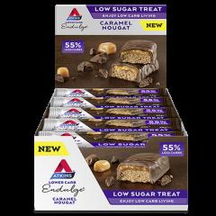 Atkins Caloriearme Reep | Endulge | Caramel Nougat | Doos | Dieetwebshop.nl