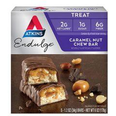 Low Carb | Atkins | Endulge | Caramel Nut Chew | Doos | Dieetwebshop.nl