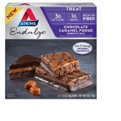 Atkins | Chocolate Caramel FUdge Dessert Bar | Low Carb | Eiwitrijk |  Dieetwebshop.nl