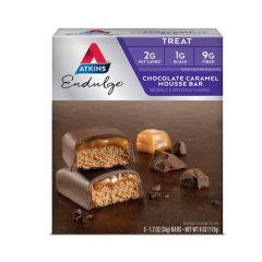 Atkins | Endulge | Chocolate Caramel Mousse Bar | Doos | Caloriearme Reep | Dieetwebebshop.nl