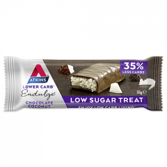 Atkins | Endulge | Chocolate Coconut Bar | Caloriearm | Dieetwebshop.nl