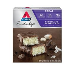 Atkins | Endulge | Chocolate Coconut Bar | Doos | Caloriearm | Dieetwebshop.nl