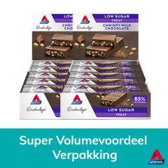 Atkins Keto Chocolade | Endulge | Crispy Milk Chocolate | Voordeeldoos | Caloriearm | Dieetwebshop.nl