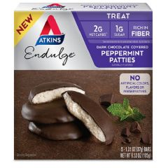 Atkins | Dark Chocolate Covered Peppermint Patties | Low Carb | Dieetwebshop.nl