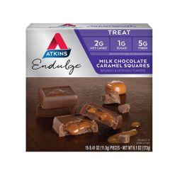 Atkins | Endulge | Milk Chocolate Caramel Squares | Keto Chocolade | Dieetwebshop.nl