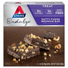 Atkins | Nutty Fudge Brownie Bar | Low Carb | Dieetwebshop.nl