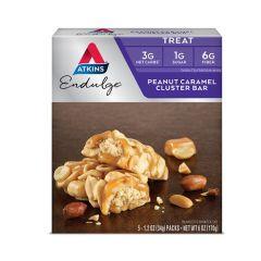 Low Carb | Atkins | Endulge | Peanut Caramel Cluster reep |  Doos | Dieetwebshop.nl