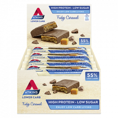 Keto Bar | Atkins | Fudge Caramel | Doos | Dieetwebshop.nl