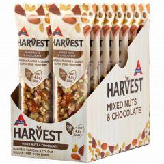 Caloriearm | Atkins | Harvest | Mixed Nuts & Chocolate | Doos | Dieetwebshop.nl