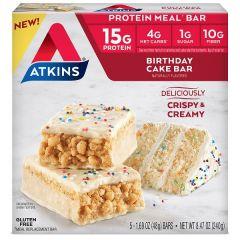 Caloriearme Maaltijdvervanger | Atkins | Meal Bar | Birthday Cake | Dieetwebshop.nl
