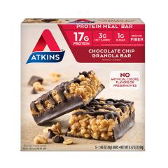 Atkins | Chocolate Chip Granola Bar | Doos |Keto Reep| Dieetwebshop.nl