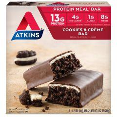 Low Carb Maaltijdreep | Atkins | Meal Bar | Cookies & Creme | Dieetwebshop.nl