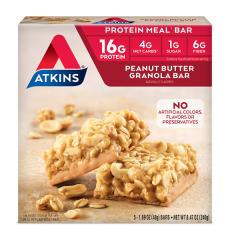 Atkins | Peanut Butter Granola Bar | Doos | Keto Reep | Dieetwebshop.nl