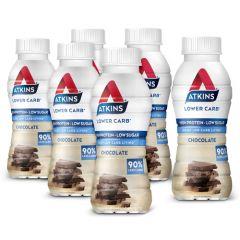 Atkins | RTD shake | Melkchocolade | Tray | Caloriearm drankje | Dieetwebshop.nl