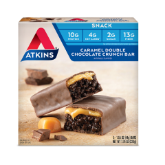 Atkins | Snack bar | Caramel Double Chocolate Crunch | Doos | Low Carb
