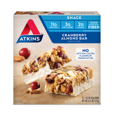 Atkins | Snack Bar | Cranberry Almond | Doos | Keto