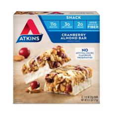 Atkins | Snack Bar | Cranberry Almond | Doos | Keto