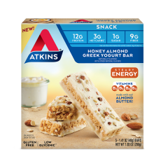 Atkins | Snack bar | Honey Almond Greek Yoghurt | Doos | Keto