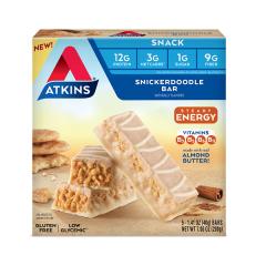 Atkins | Snack bar | Snickerdoodle | Doos | Keto