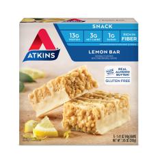 Atkins | Snack Bar | Lemon Bar | Doos | Keto
