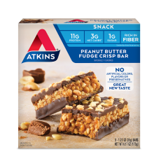 Atkins | Snack Bar | Peanut Butter Fudge Crisp | Doos | Keto