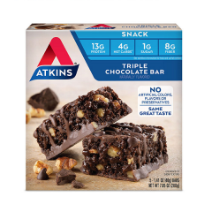 Atkins | Snack Bar | Triple Chocolate Bar | Doos | KETO
