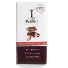 Balance | Melkchocolade Hazelnoot | Sugar free | Dieetwebshop.nl