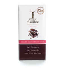 Balance | Tablet Puur 72% | Cacaonibs | Low Carb | Dieetwebshop.nl