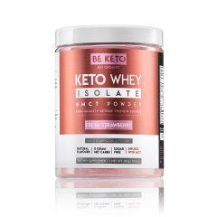 Be Keto | KETO Whey + MCT | Fresh Strawberry | 300 gram | Eiwitrijke shake