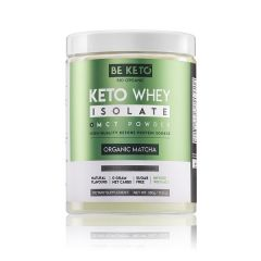 Be Keto | KETO Whey + MCT | Organic Matcha | 300 gram | Ketogeen