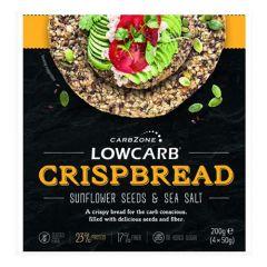 CarbZone | Low Carb Crispbread | Zonnebloempit en zeezout | Eiwitrijk | Dieetwebshop.nl