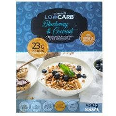 CarbZone | Low Carb Granola | Blueberry & Coconut | Low Carb Muesli | Dieetwebshop.nl