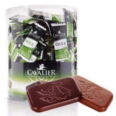 Caloriearme Chocolade | Cavalier | Napolitaantjes Tube |  Melk en Puur | Dieetwebshop.nl