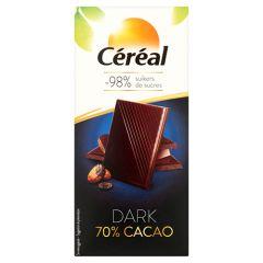 Cereal | Chocolade tablet | 70% cacao | suikervrij | Dieetwebshop.nl
