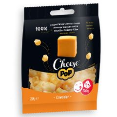 Keto snack | Cheese Pop | Snack Gepofte Cheddar Kaas | Dieetwebshop.nl