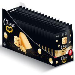 Keto Snack | Cheese Pop | Snackpack Gepofte Emmental Kaas | Doos | Dieetwebshop.nl