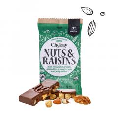 Chokay | Tablet | Milk Nuts & Raisins | Keto Snack | Dieetwebhsop.nl