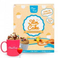 Clean Foods | SLIM Cake | Vanille | Suikervrij | Dieetwebshop.nl