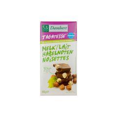 Damhert  |Tagatesse Chocoladetablet | Melk met Hazelnoten | Low Carb | Dieetwebshop.nl