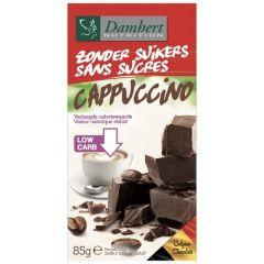 Suikervrije chocolade | Damhert | Zonder Suikers Chocoladetablet | Puur met Cappuccino smaak | Dieetwebshop.nl