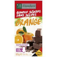 Suikervrije chocolade | Damhert | Zonder Suikers Chocoladetablet | Puur met sinaasappel | Dieetwebshop.nl
