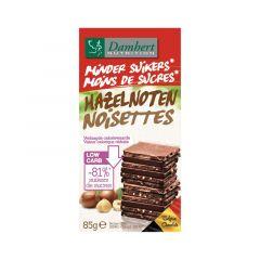 Damhert | Minder Suikers Chocoladetablet | Melk met Hazelnoten | Dieetwebshop.nl