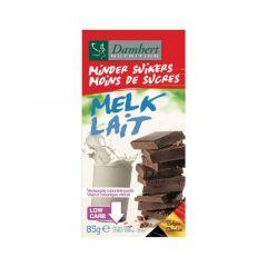 Damhert   Minder Suikers Chocolade Tablet Melk   Dieetwebshop.nl